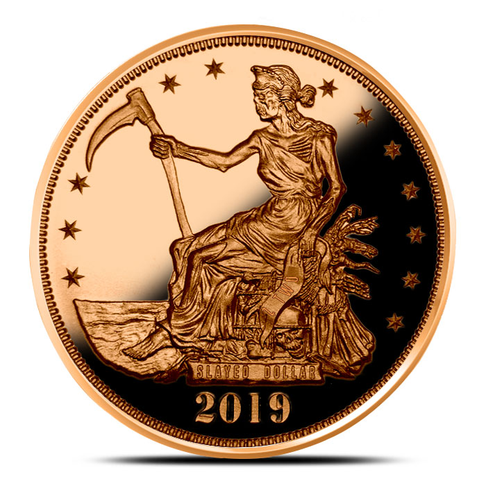 Proof Zombucks Slayed Dollar One Ounce Copper Round