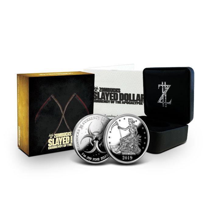 Proof Zombucks Slayed Dollar 1 oz Silver Round