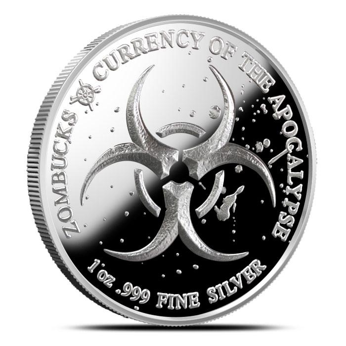 Zombucks Slayed Dollar 1 oz Silver Proof Round