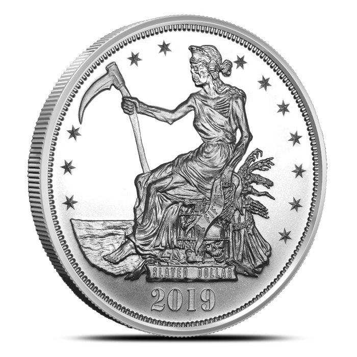 Zombucks Slayed Dollar 1 oz Silver Round