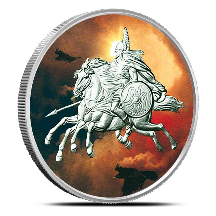Sleipnir 1 oz Silver Colorized | Nordic Creatures