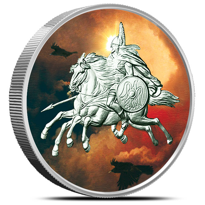 Sleipnir 5 oz Silver Colorized | Nordic Creatures
