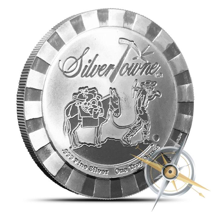 Stackable Prospector 1 oz Silver Round | SilverTowne