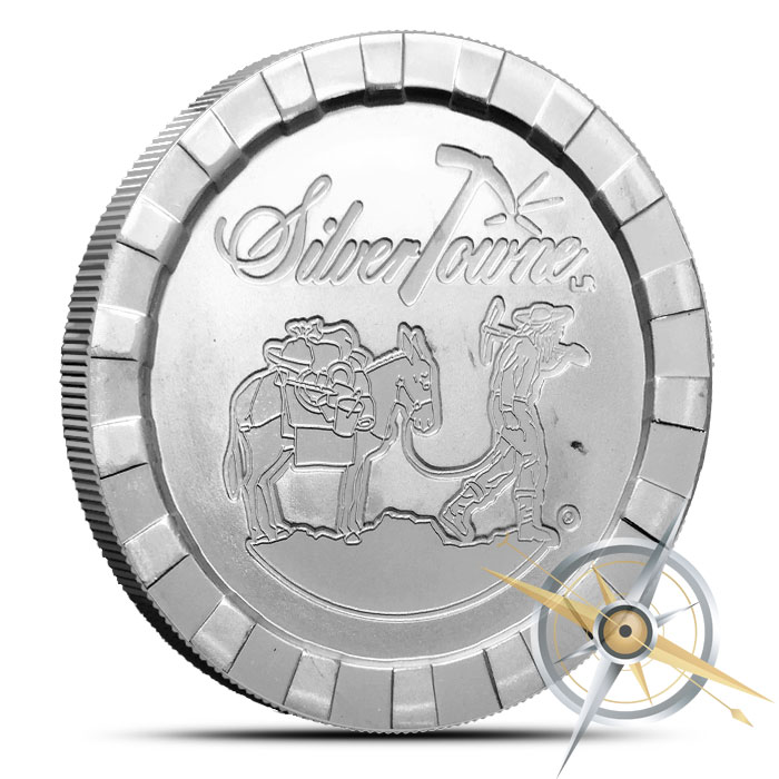 Stackable Prospector one ounce Silver Round | SilverTowne
