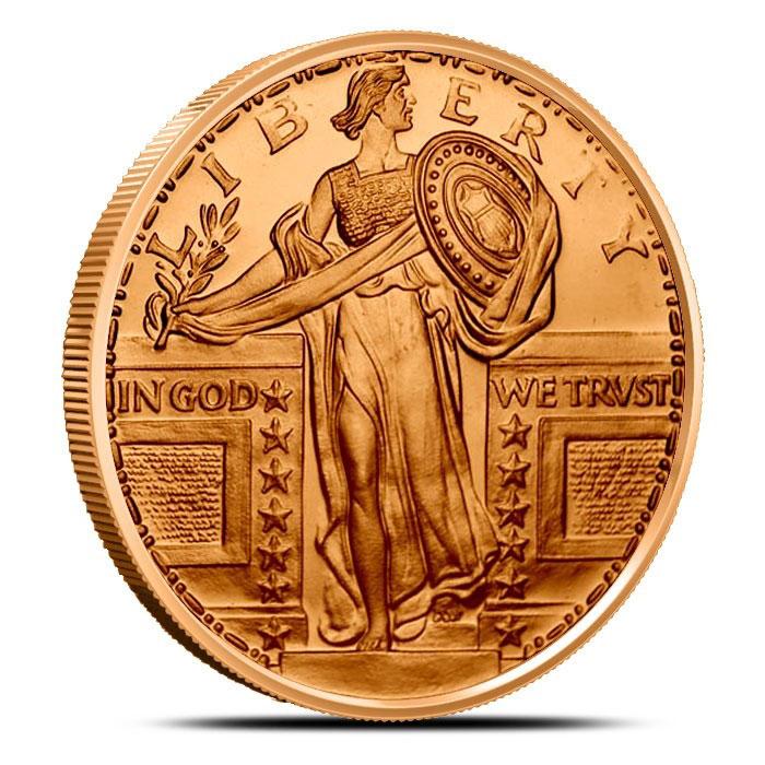 Standing Liberty 1 oz Copper Round