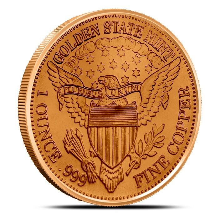 Standing Liberty 1 oz Copper Round Reverse