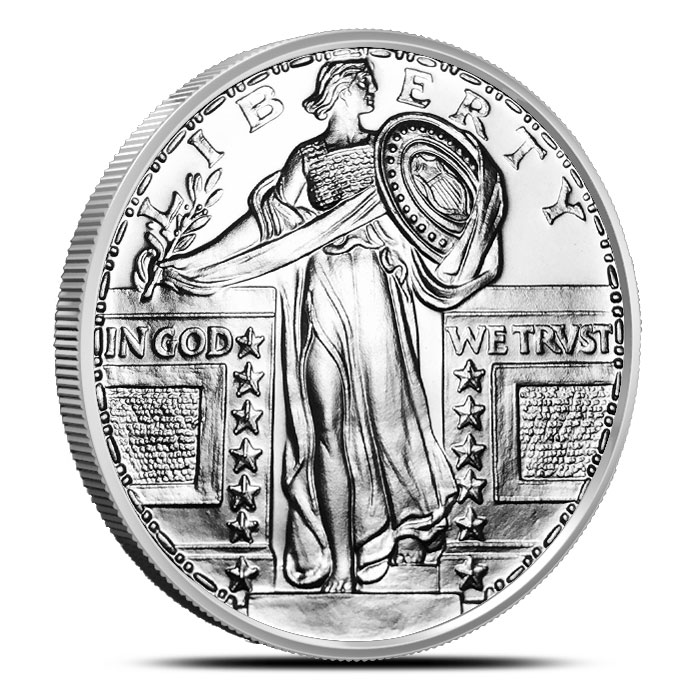 Standing Liberty 1 oz Silver Round