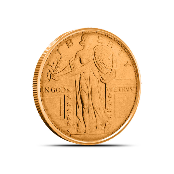 Standing Liberty Fourth oz Copper Round
