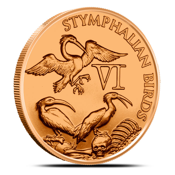 Stymphalian Birds 1 oz Copper Round