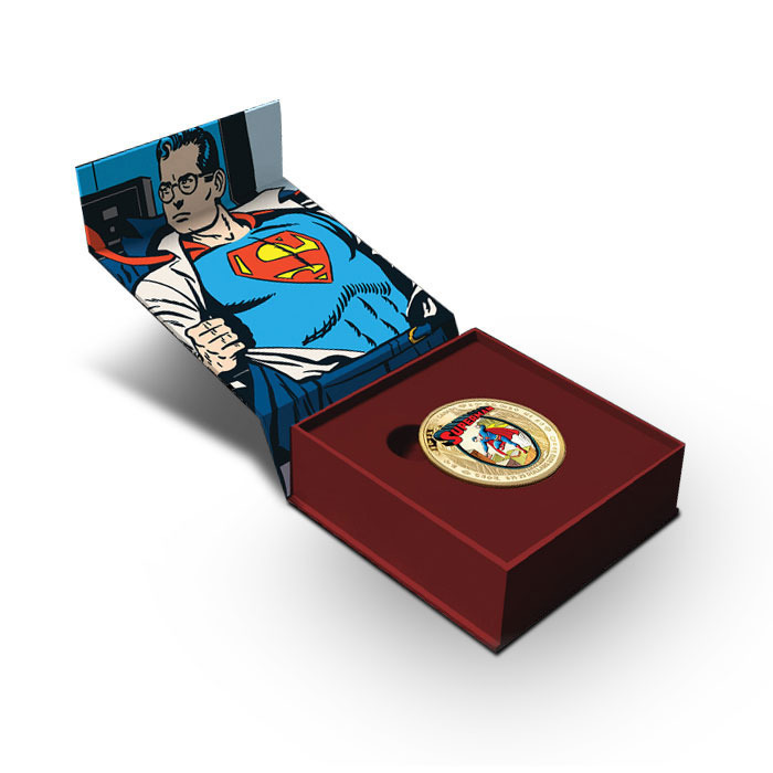 2013 $75 Canadian 14k Gold Superman Coin in Box