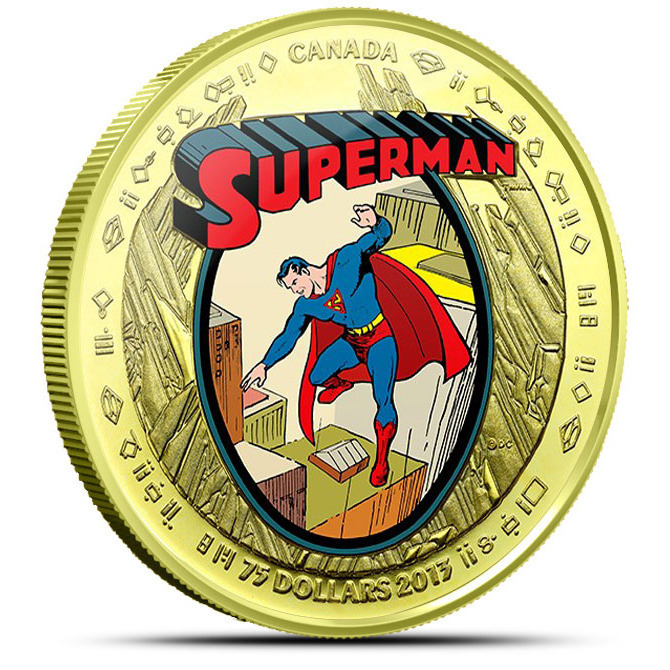 2013 Superman- The Early Years Canadian 14k Gold Coin