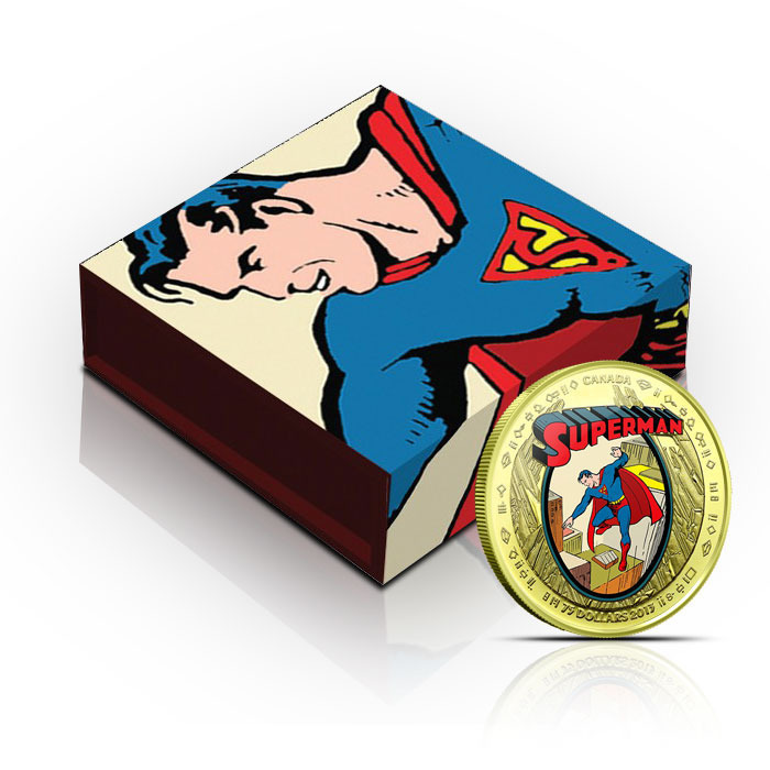 2013 $75 Canadian 14k Gold Superman Coin with Box