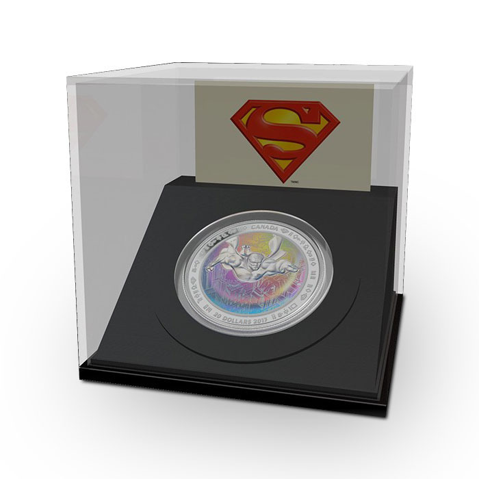 2013 Metropolis Hologram Superman Coin in Display Box