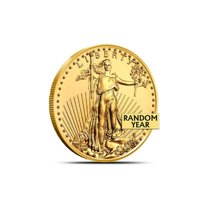 1/10 oz US Gold Eagle Coin Random Date Obverse