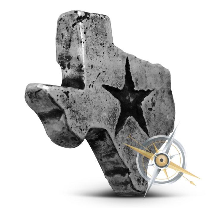 Texas two ouce Poured Silver Bar | MK BarZ
