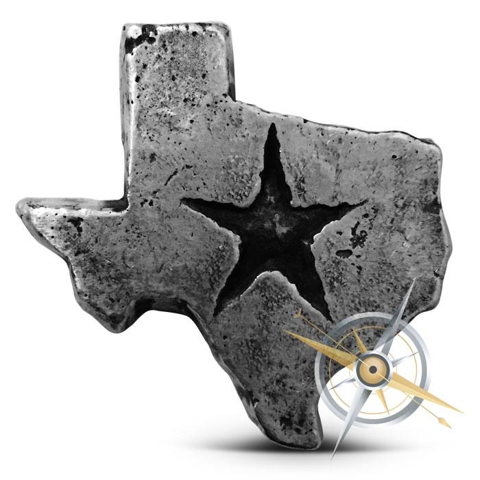 Texas 2 oz Poured Silver Bar | MK BarZ