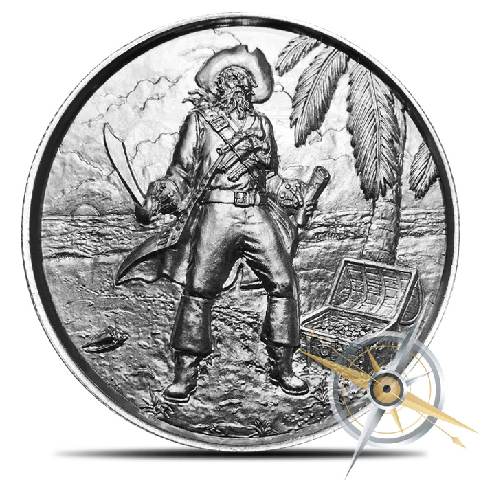 The Captain two ounce Silver Ultra High Relief Round | Roll of 10