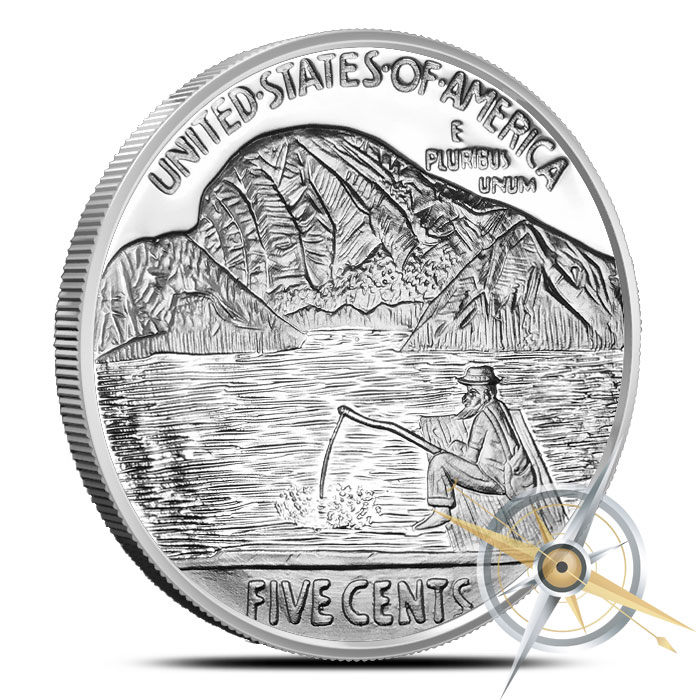 The Fisherman 1 oz Silver Proof Round | Provident Metals