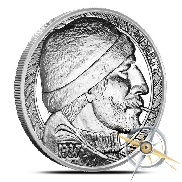 The Fisherman 1 oz Silver Proof Round | Hobo Nickels