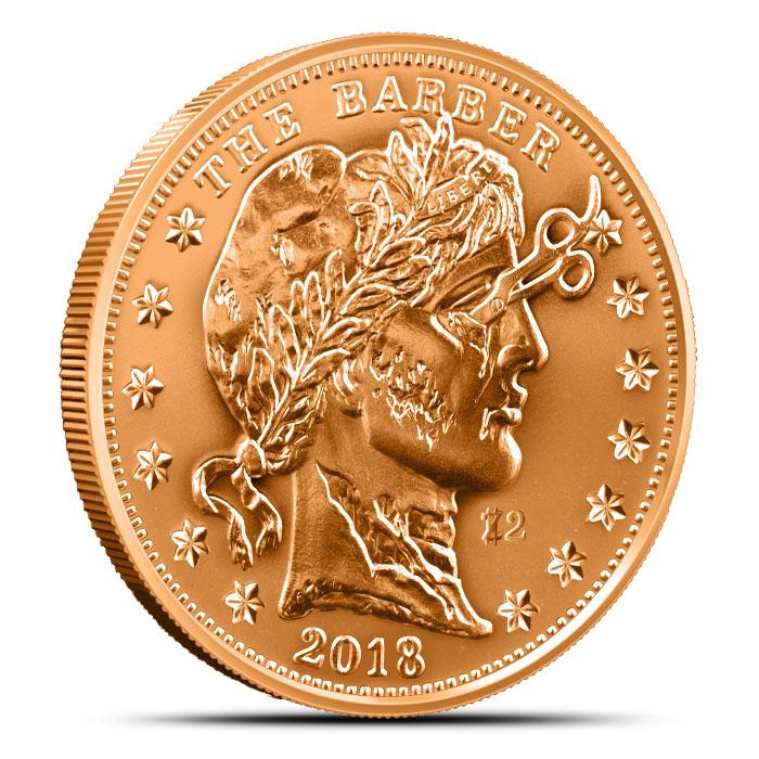 2018 Zombucks The Barber Copper