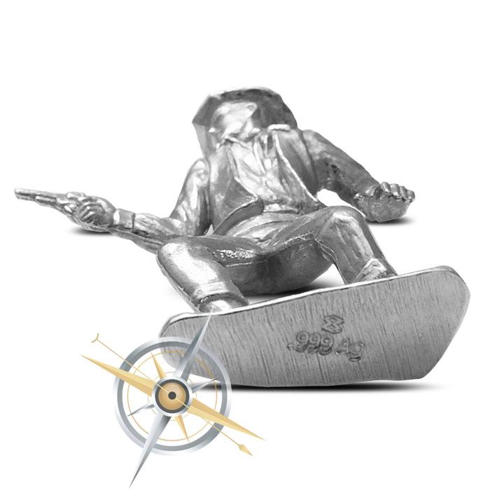 2 oz .999 Fine Silver The Peacemaker Silver Cowboy
