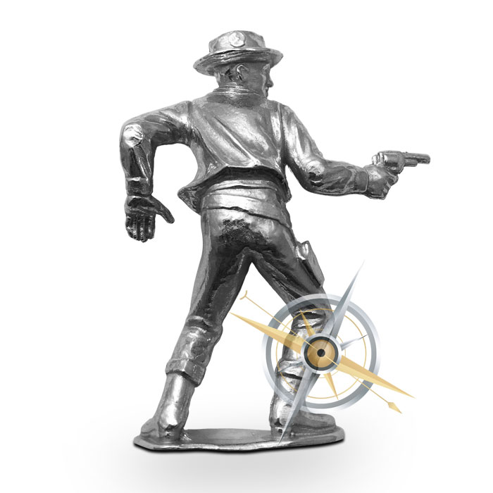 The Peacemaker Silver Cowboy | 2 oz .999 Fine Silver