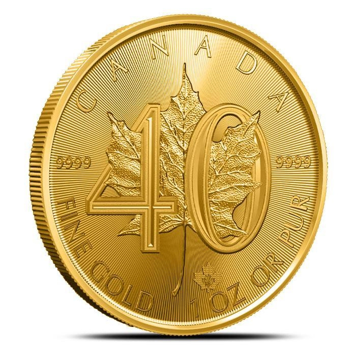 2019 Canadian 1 oz Gold Maple | 40th Anniversary