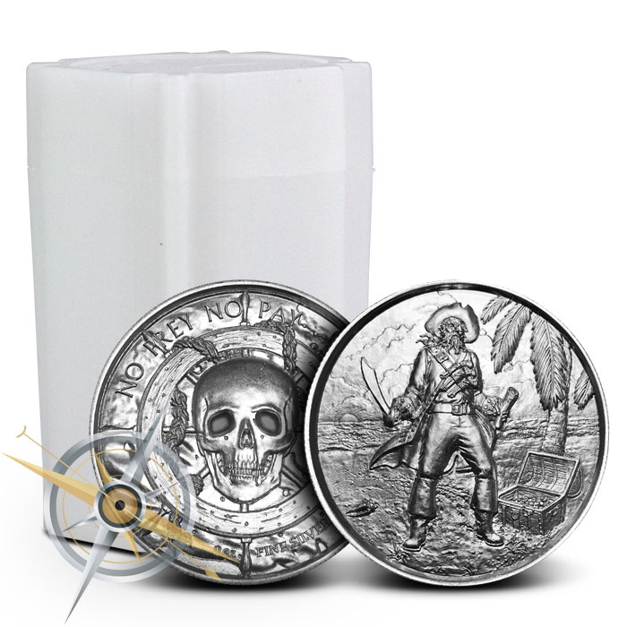 The Captain 2 oz Silver Ultra High Relief Round | Roll of 10