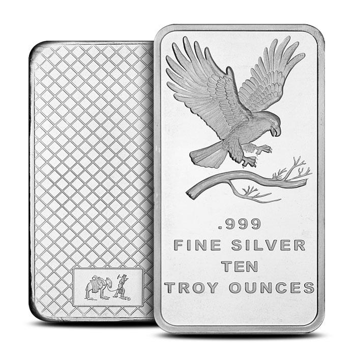 Eagle 10 oz Silver Bar | SilverTowne
