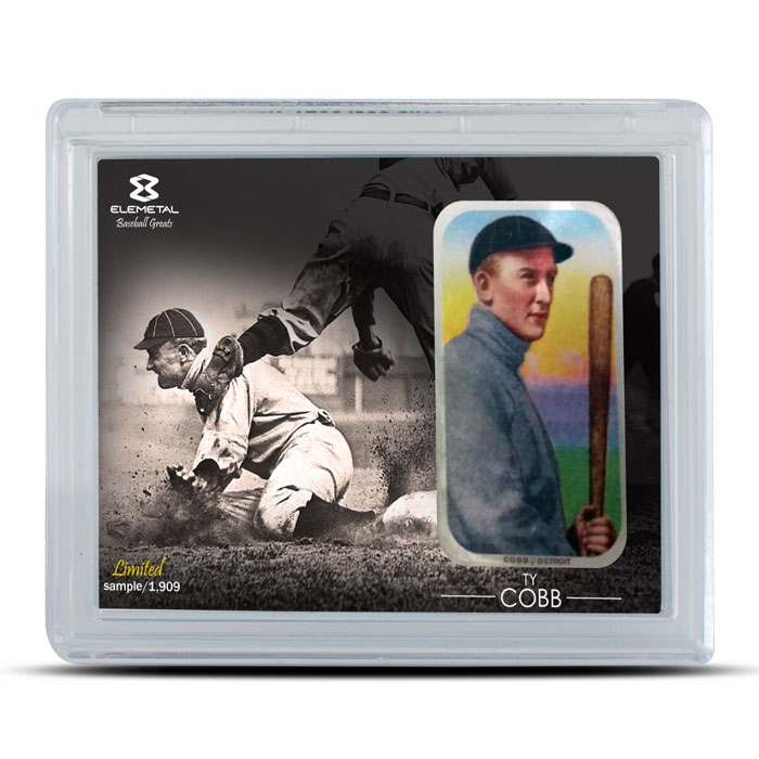 Elemetal Ty Cobb 1 oz Silver Bar 3 Piece Set