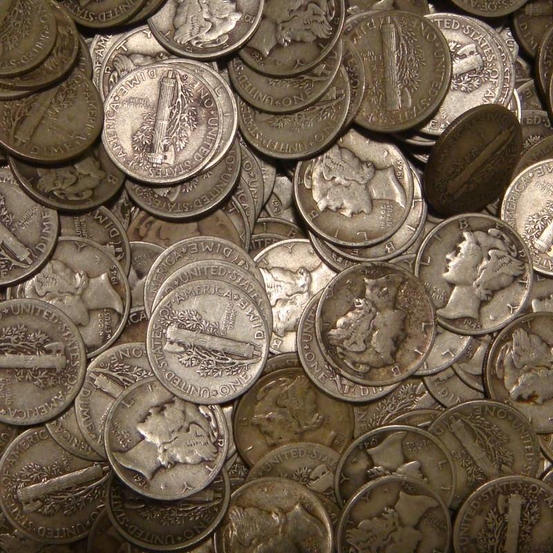 90% Silver US Mercury Dimes