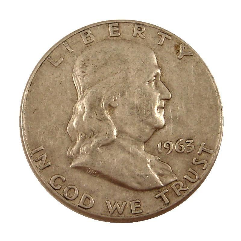 90% Silver US Franklin Halves | $500 Face Value | 357.5 Troy Ounces Obverse