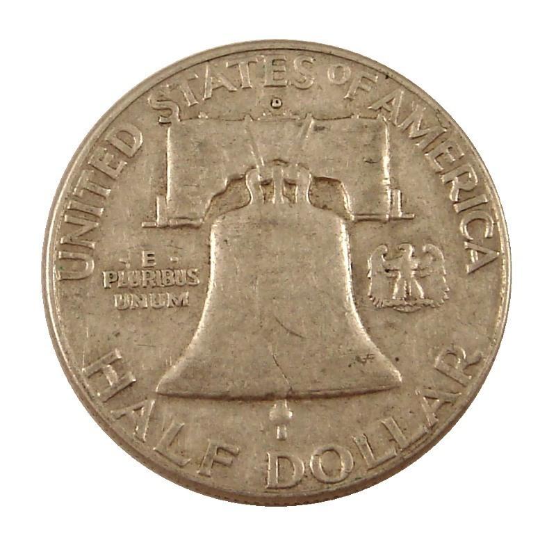 90% Silver US Franklin Halves | $500 Face Value | 357.5 Troy Ounces Reverse