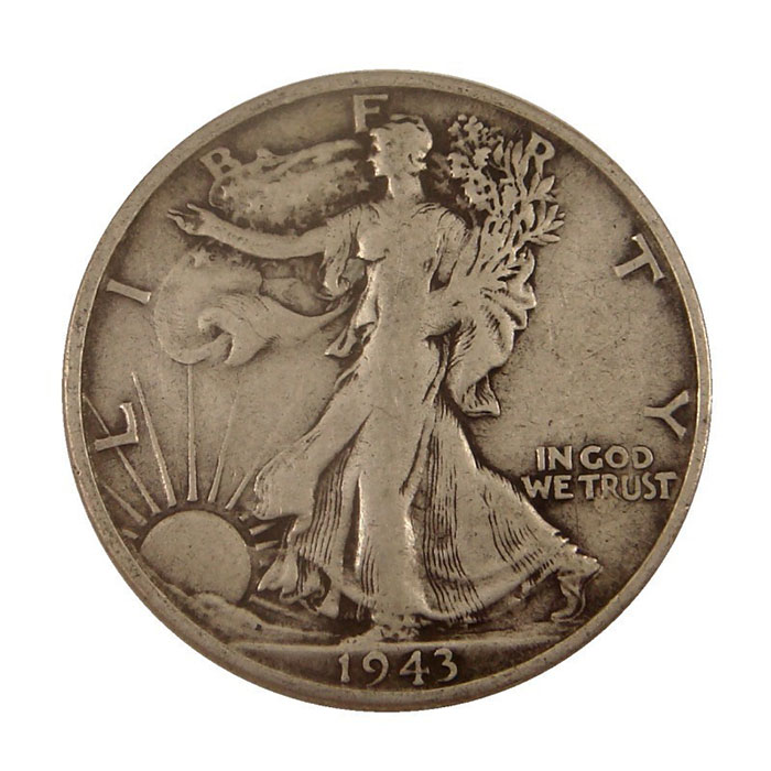 $500 Face Value 90% Silver US Walking Liberty Halves Reverse
