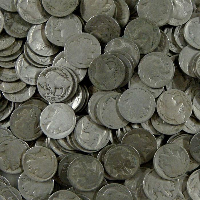 No Date Buffalo Nickels