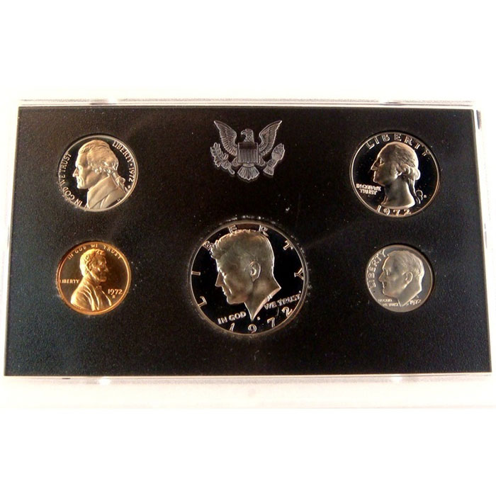 1972 S US Proof Set Coin Obverse