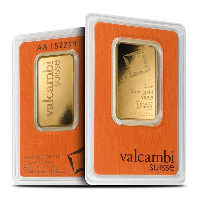1 oz Gold Bar | Valcambi
