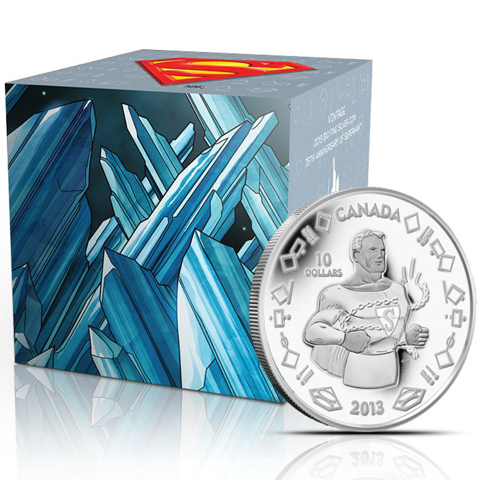 2013 1/4 oz Silver Vintage Superman Coin & Graphic Box