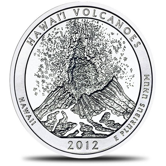 2012 Hawaii Volcanoes 5 oz Silver ATB