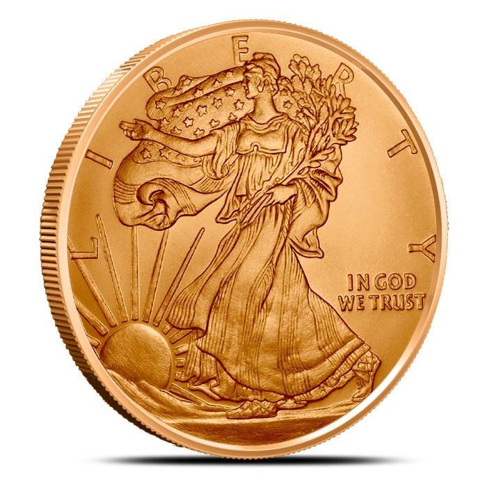 1 oz Copper Round Walking Liberty