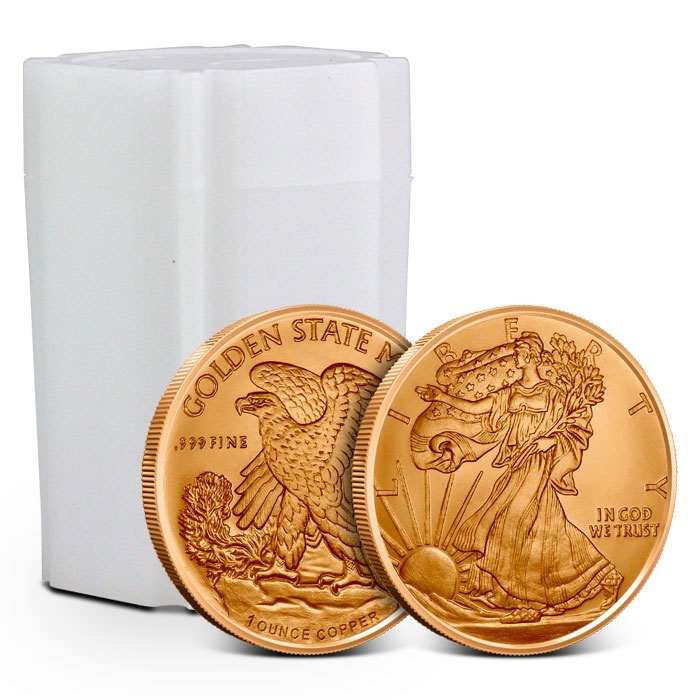 Tube of Walking Liberty Copper Rounds