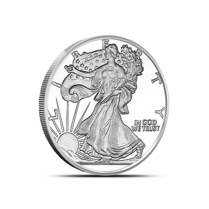Walking Liberty Tenth Ounce Silver Round