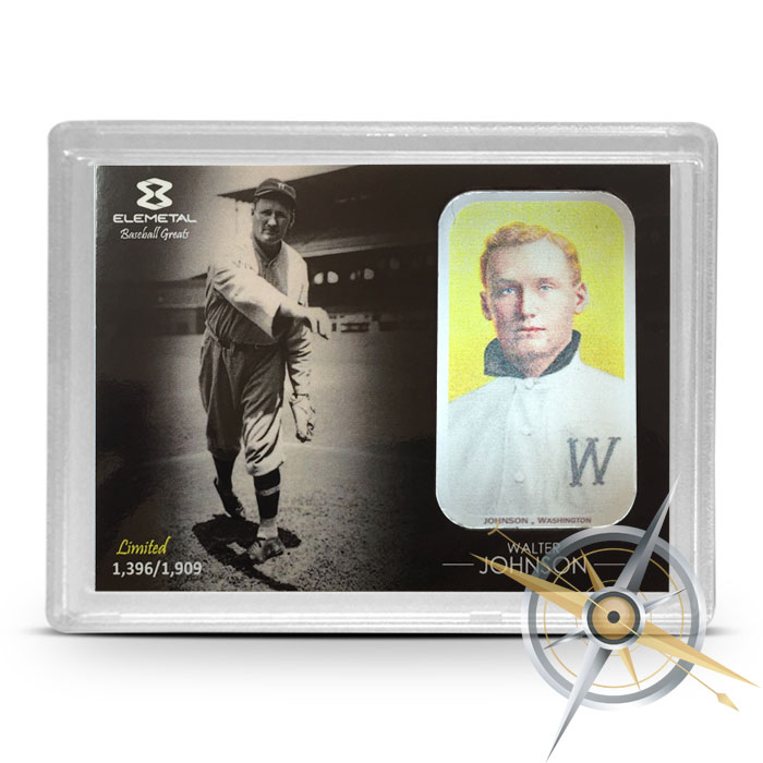 Walter Johnson one ounce Silver Bar | Elemetal Mint
