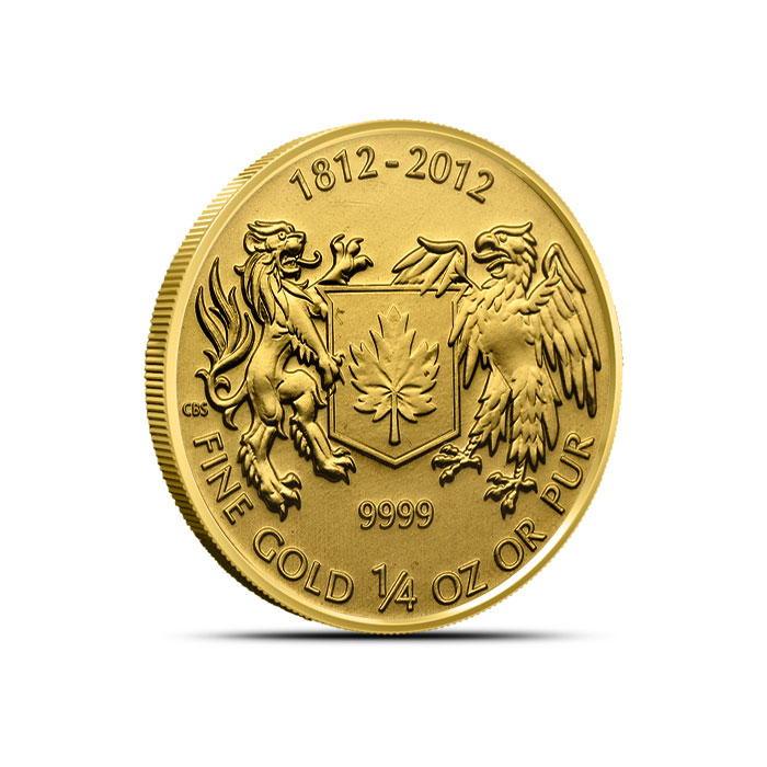 War of 1812 Quarter Ounce Gold Coin | Royal Canadian Mint Reverse