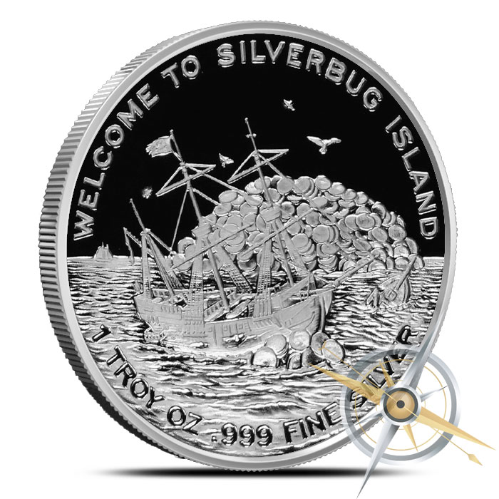 2015 Finding Silverbugs Island one ounce Silver Round Set   Proof and Antiqued