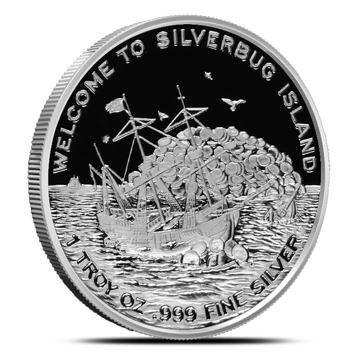 22018 Leviathan one ounce Proof Silver Round | Silverbug