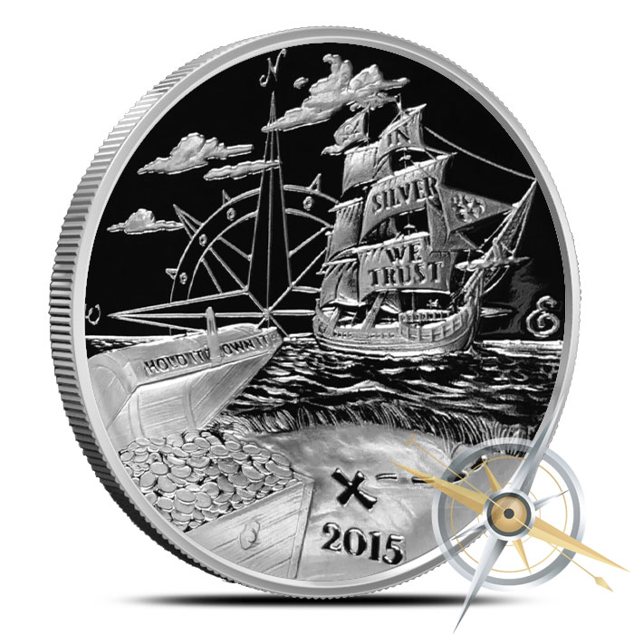 2015 Finding Silverbug Island 1 oz Proof Silver Round