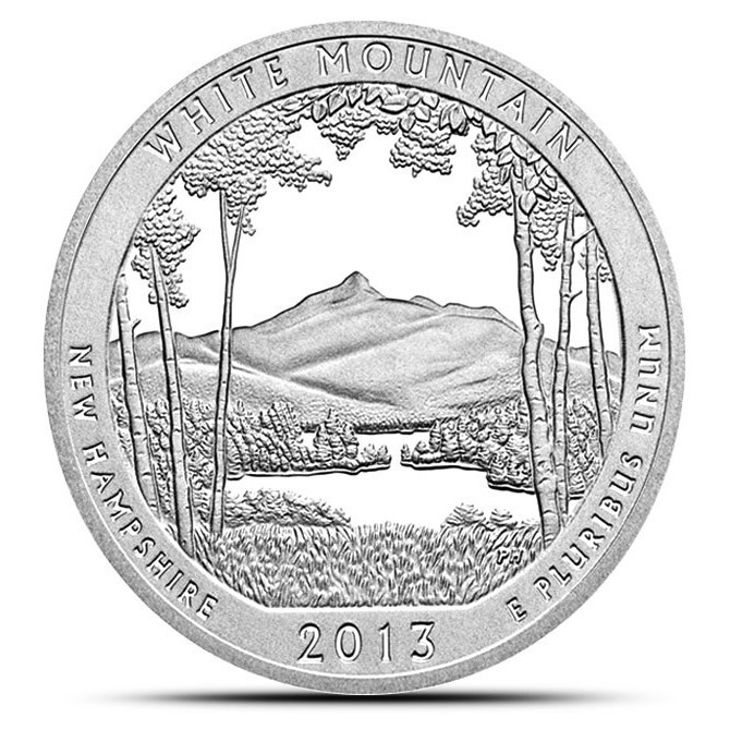 2013 White Mountain 5 oz Silver ATB | America the Beautiful