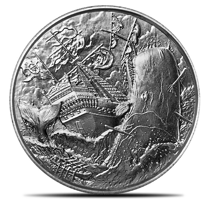 2 oz Silver Privateer Ultra High Relief | White Whale