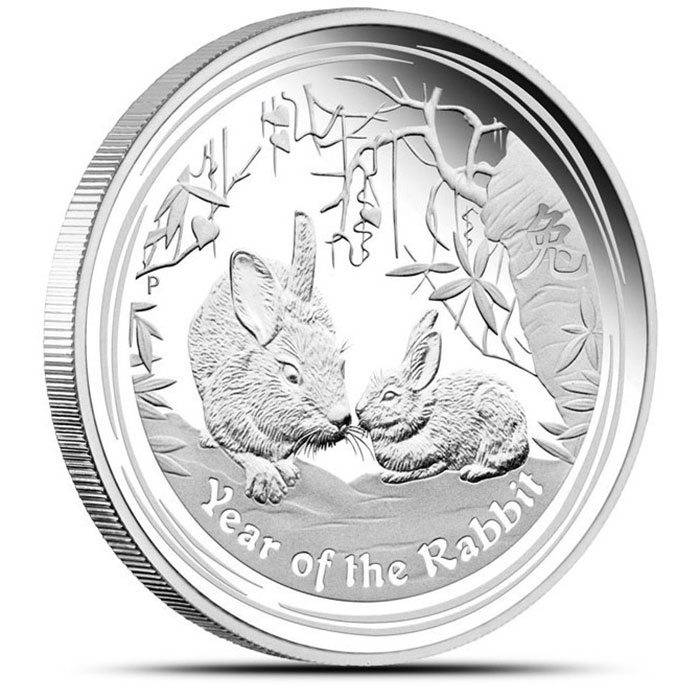 2011 Perth Mint Year of the Rabbit Kilo Silver Coin
